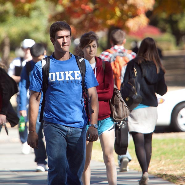 Photo of students at Duke